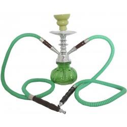 Fajka wodna szklana SHISHA ORGINAL zielona - 25 cm