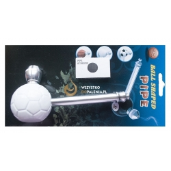 Fajka metalowa piłka biała