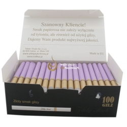 Gilzy ZŁOTY SMOK 100 -  fioletowe