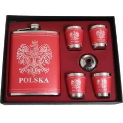 Piersiówka - zestaw upominkowy - Polska