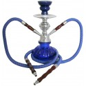 Fajka wodna szklana SHISHA ORGINAL niebieska - 25 cm
