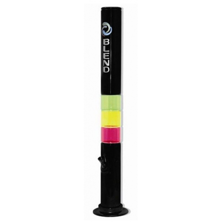 Fajka wodna akrylowa  - czarna (3188) - 50 cm.