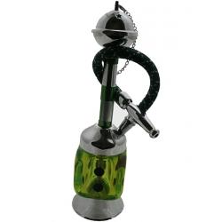 Fajka wodna MINI HOOKAH kostka zielona - 20cm