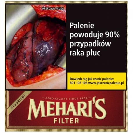 Cygaretki MEHARIS RED ORIENT FILTER (10)