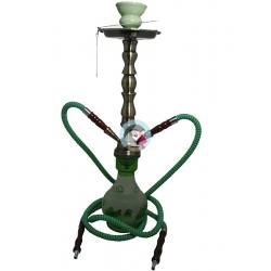 Fajka wodna szklana HOOKAH zielona - 47cm